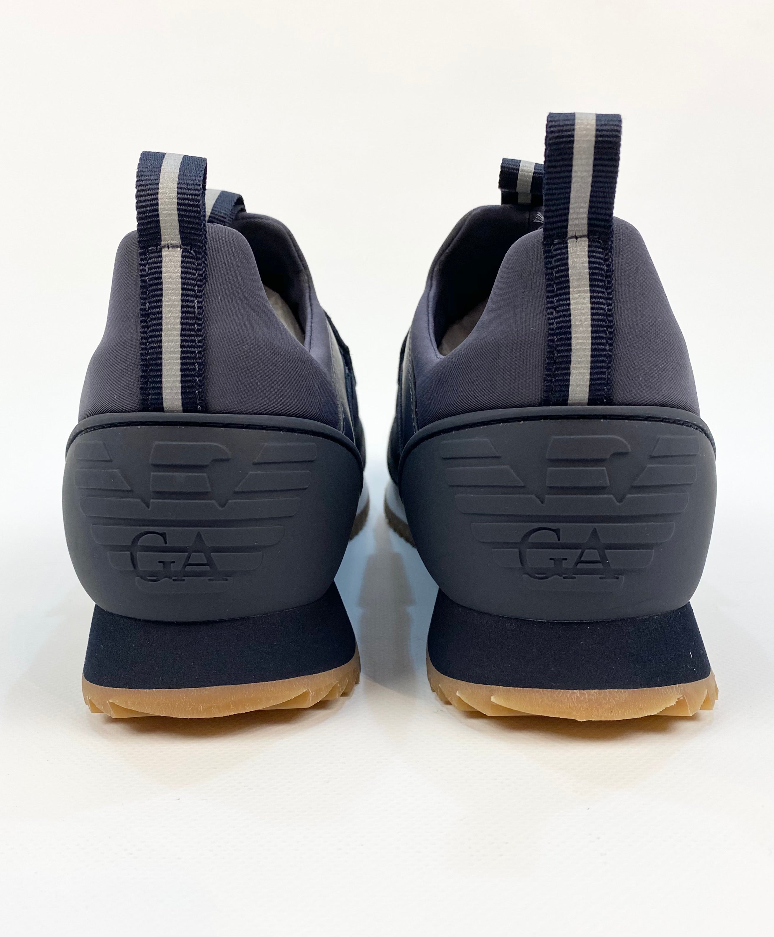 EA7 Suede Mix Velcro Running Trainer Navy