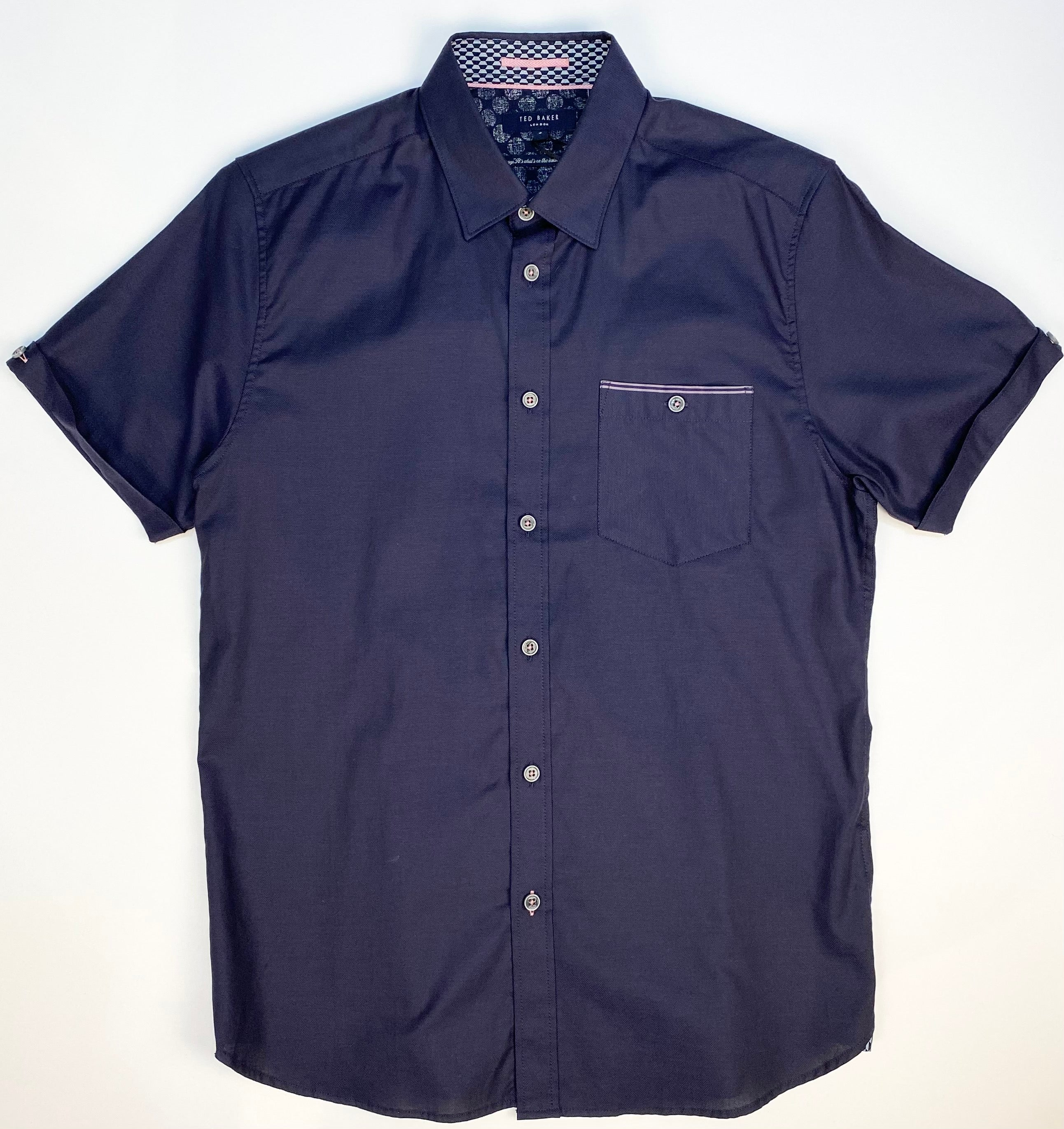 "Ted Baker ""Wallabi"" Short Sleeve Shirt Navy"