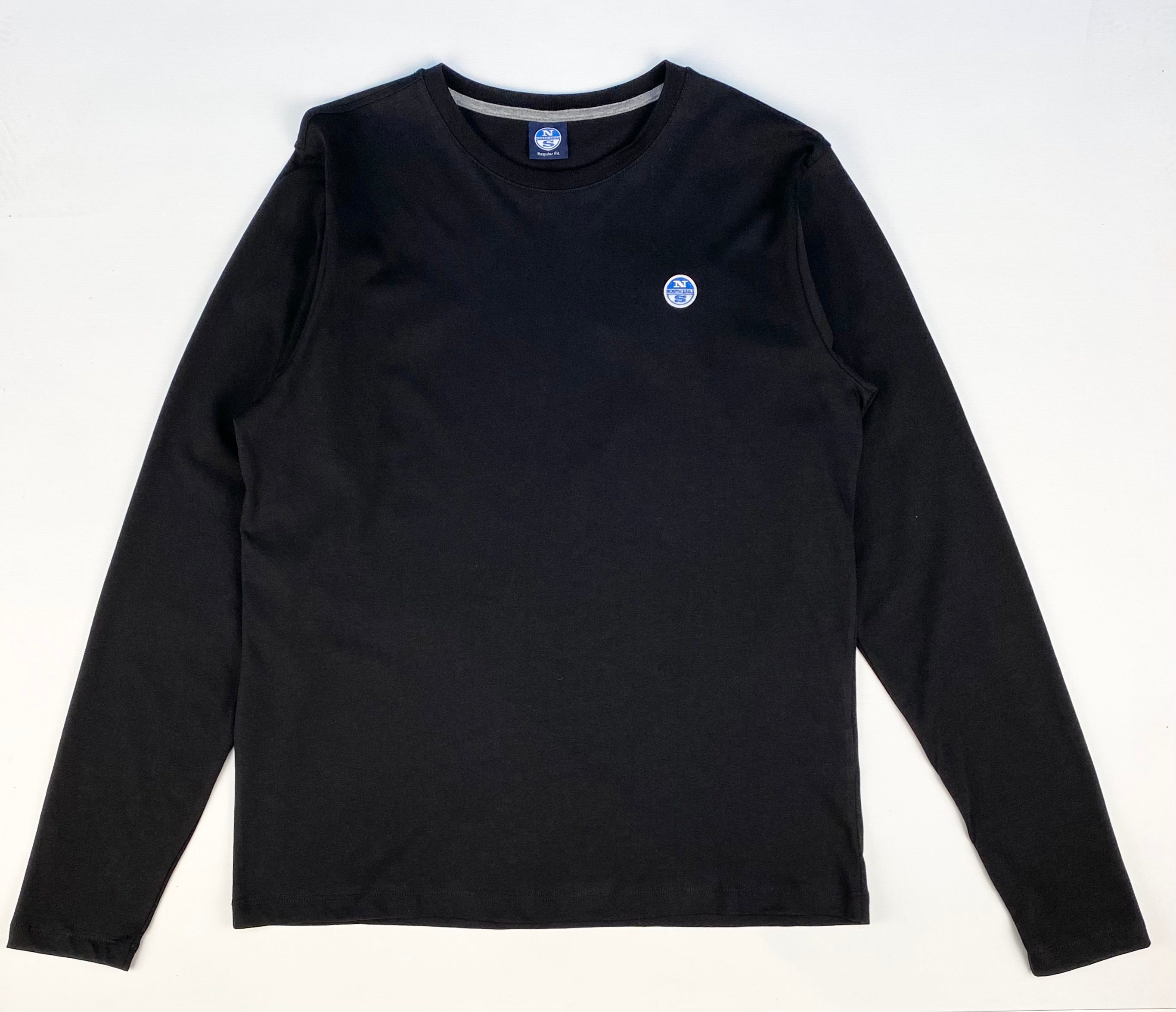 North Sails Basic Long Sleeved Crew Neck T-Shirt Black