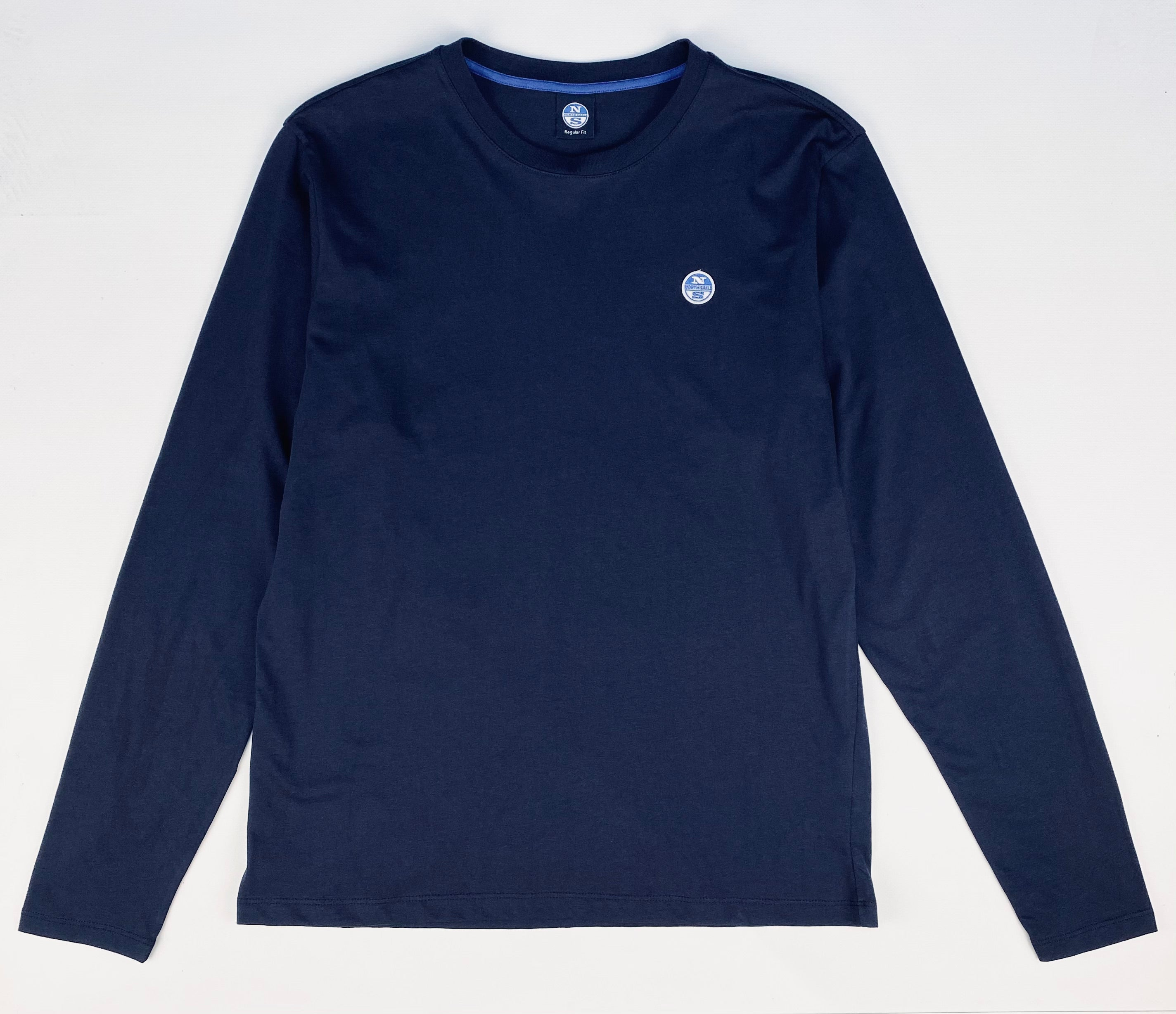 North Sails Basic Long Sleeved Crew Neck T-Shirt Navy
