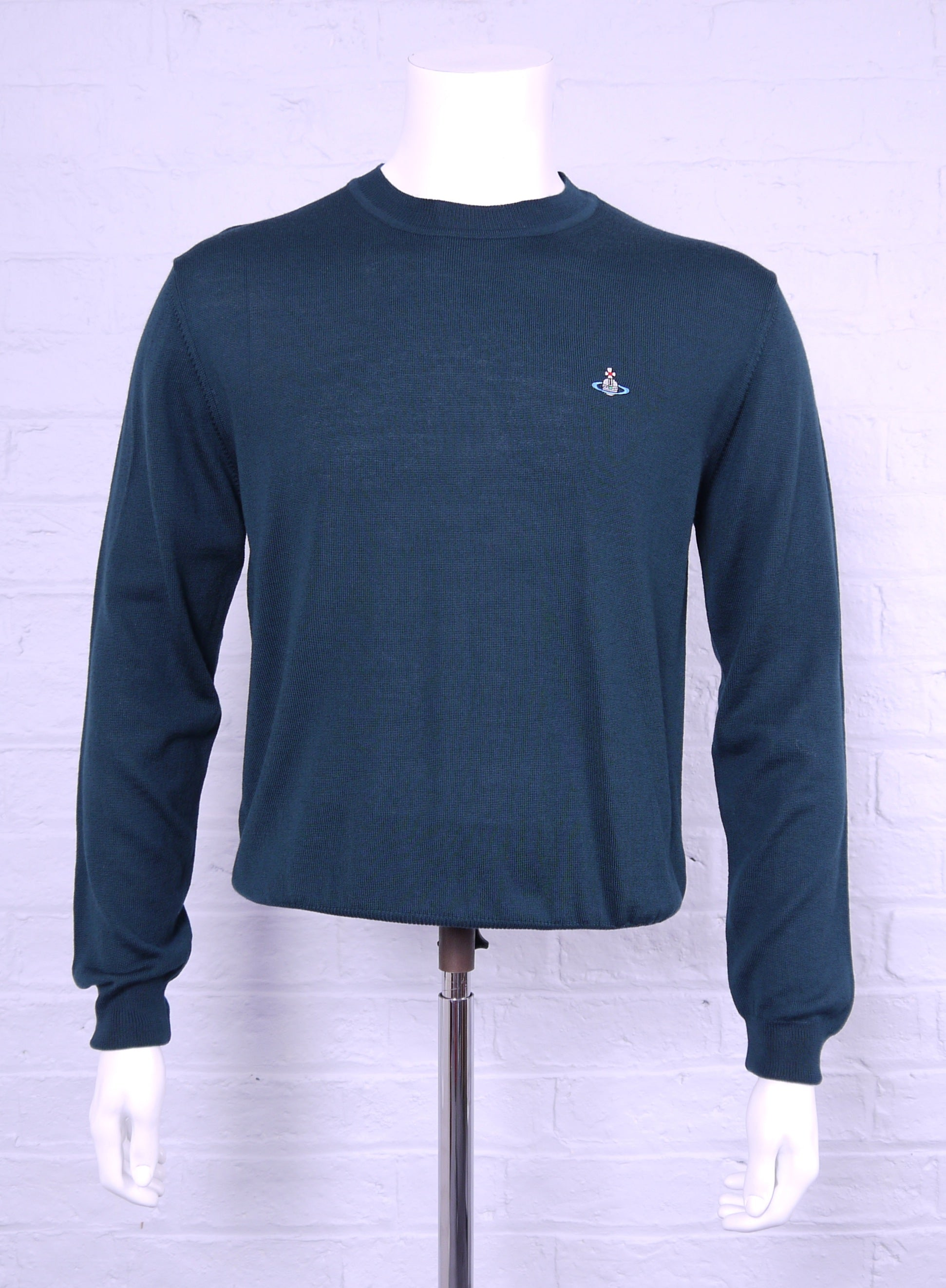 Vivienne Westwood Classic Crew Neck Knit Bottle Green Marl