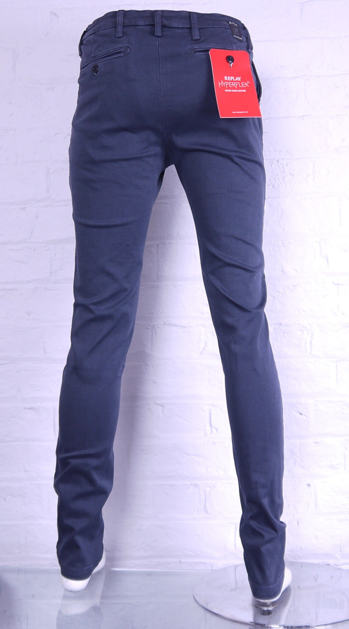 "Replay ""HYPERFLEX"" Zeumar Skinny Fit Chino Navy"