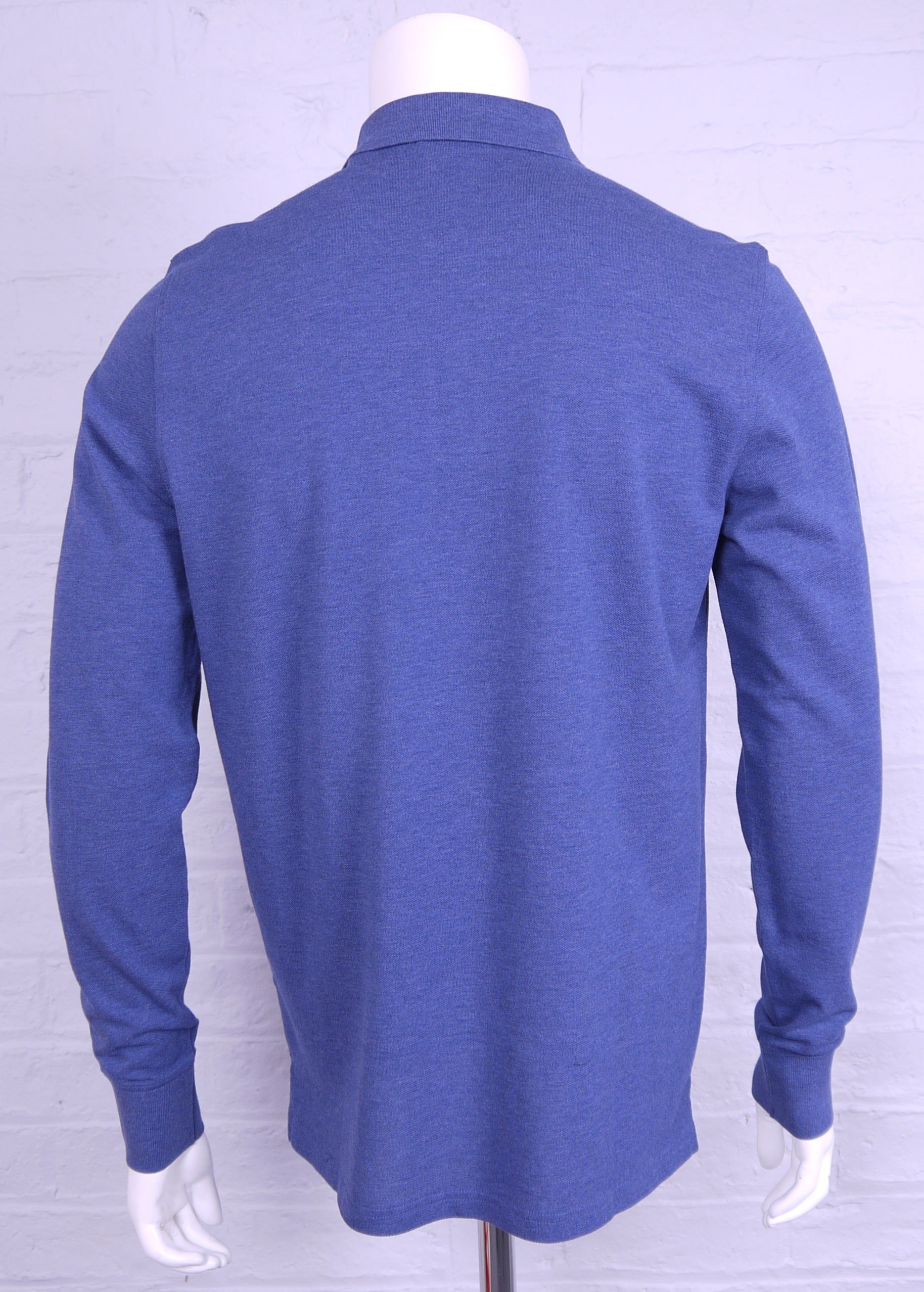 "Gant ""Original Pique"" Long Sleeved Polo Shirt Blue Melange"
