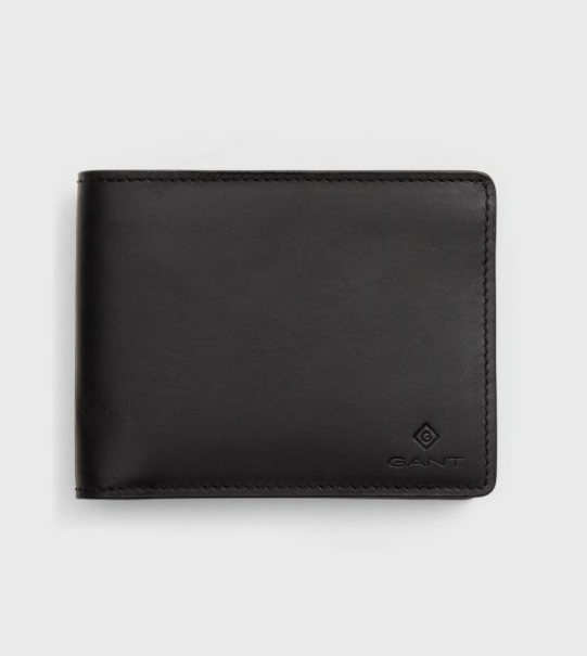 Gant Leather Wallet Black