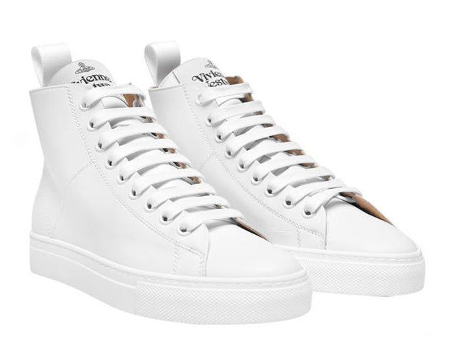 Vivienne Westwood High Top Tennis Trainers White
