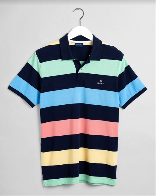 "Gant ""Barstripe"" Pique Polo Shirt Multi Colour"