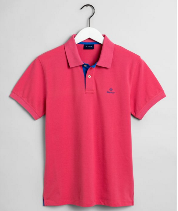 "Gant ""Contrast Collar"" Polo Rapture Rose"