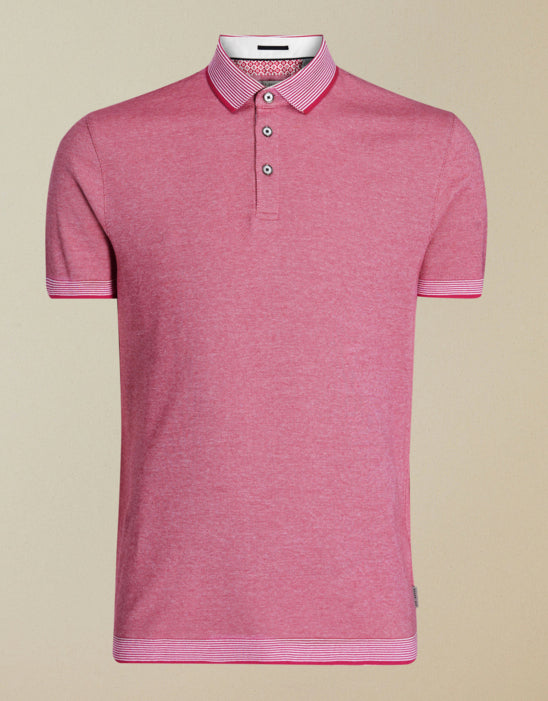 Ted Baker 'LATEONE' Oxford S/S Polo Shirt Pink