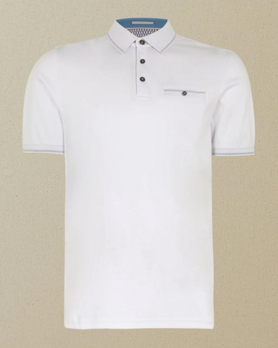 "Ted Baker ""Boomie"" Polo Shirt White"