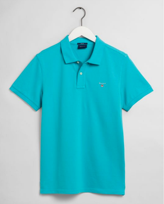"Gant ""Classic Original "" Polo Shirt Light Aqua Blue"