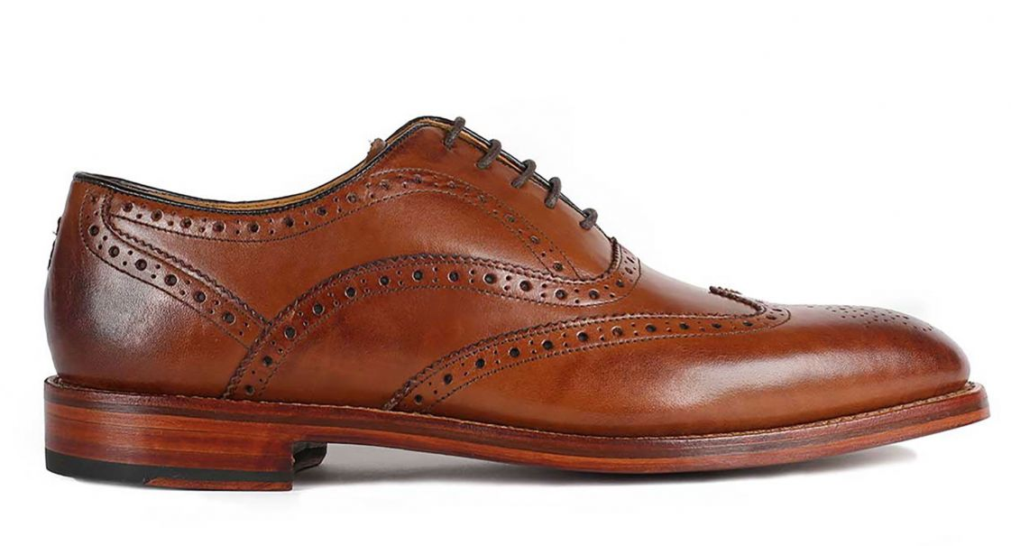 "Oliver Sweeney ""Aldeburgh"" Oxford Brogue Dark Tan"