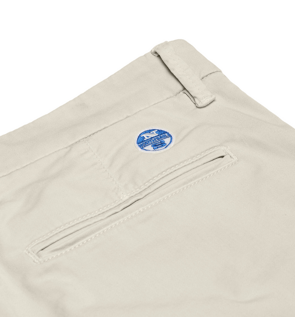 North Sails Slim Stretch Fit Chino Shorts Beige