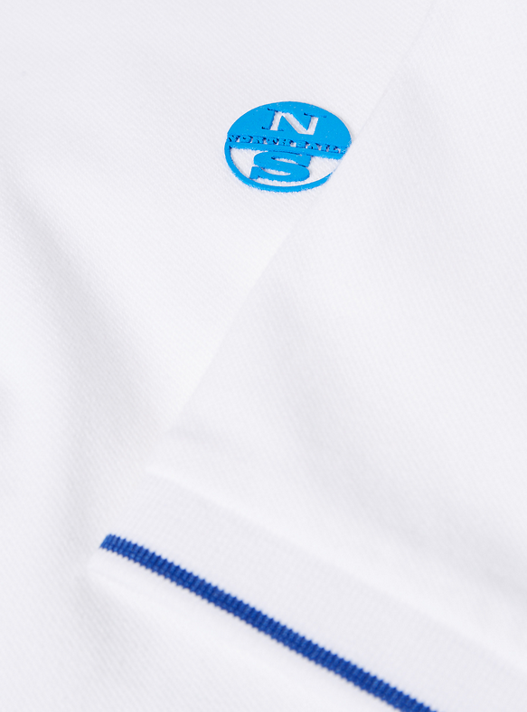 North Sails Classic Tipped Polo Shirt White
