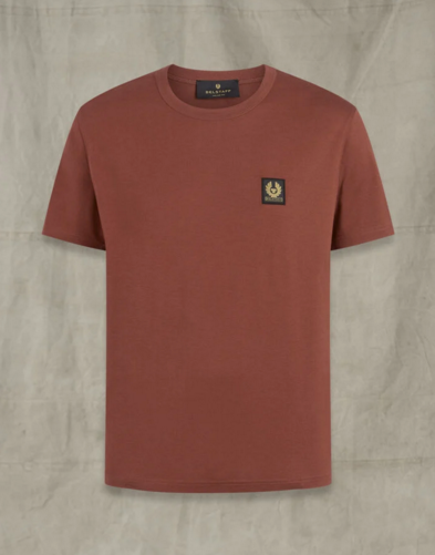 Belstaff Basic Crew Neck T-Shirt Burnished Red