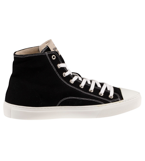 Vivienne Westwood Hi Top Canvas Sneaker Black