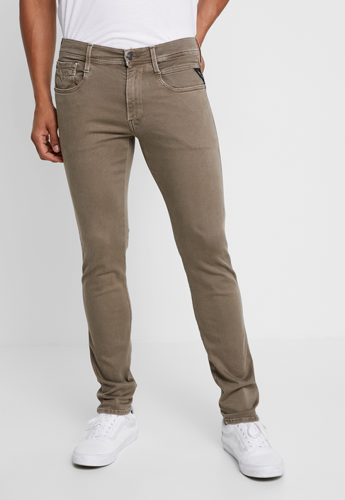 "Replay Anbass Slim Fit ""Colour Edition"" HYPERFLEX Jeans Taupe"
