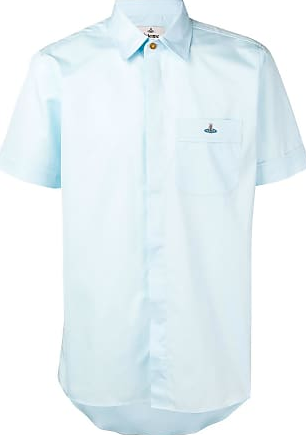 Vivienne Westwood Classic Slim Fit Short Sleeve Shirt Aquamarine