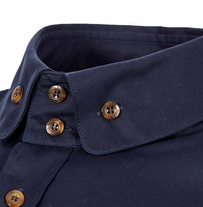 Vivienne Westwood Long Sleeve Double Button Collar Oxford Shirt Navy