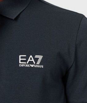 EA7 Basic Chest Branded Polo Shirt Navy