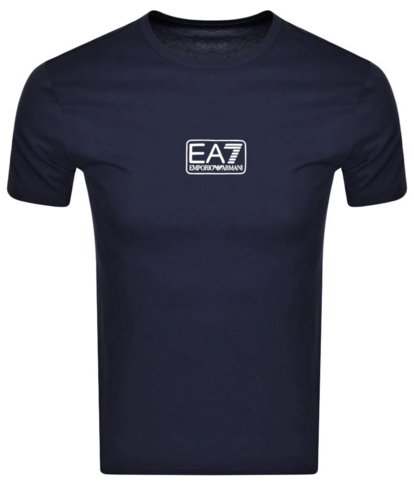 EA7 Basic Centre Chest Logo T-Shirt Navy