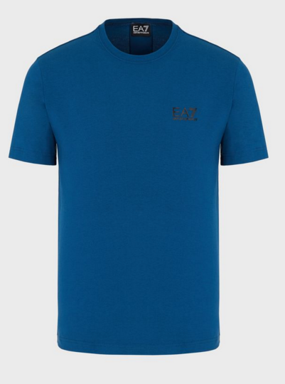 EA7 Branded Tape Back Logo T-Shirt Opal Blue