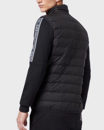 EA7 Packable Down Filled Chevron Qulited Gilet Black