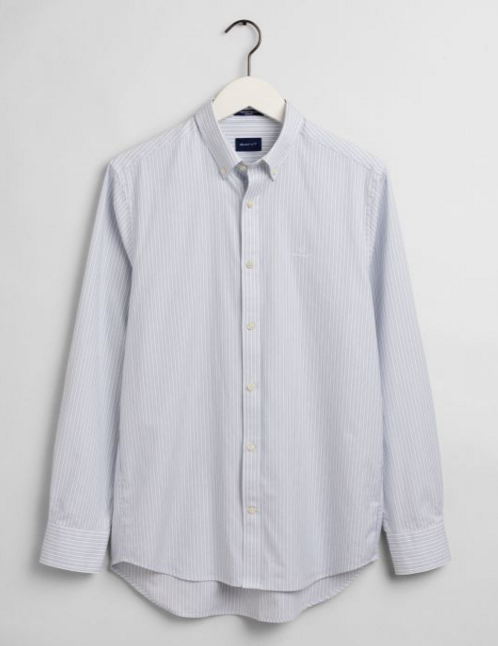 "Gant ""Stripe Pinpoint Oxford"" Shirt White"