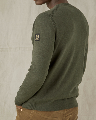 "Belstaff ""MOSS"" Crew Neck Knit Salvia Green"