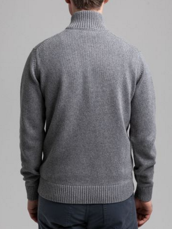 Gant Causal Cotton Half Zip Dark Grey
