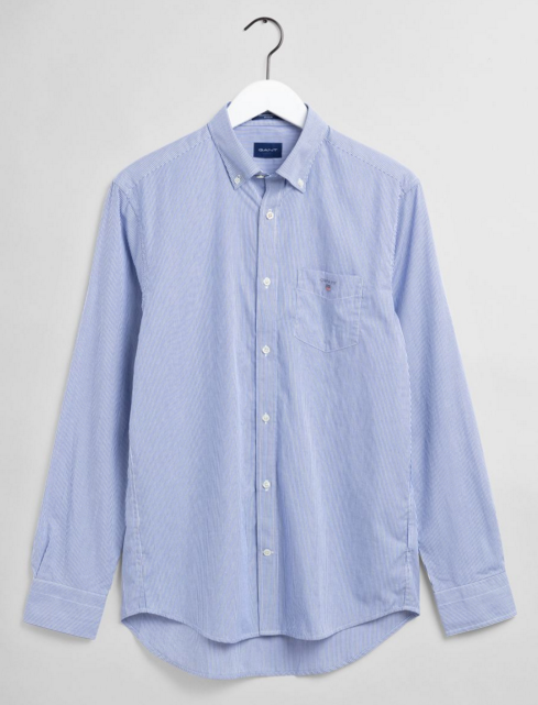 "Gant"" Broadcloth Banker"" Shirt Persian Blue"