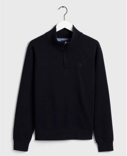 "Gant ""Sacker Rib"" Half zip Sweatshirt Navy"