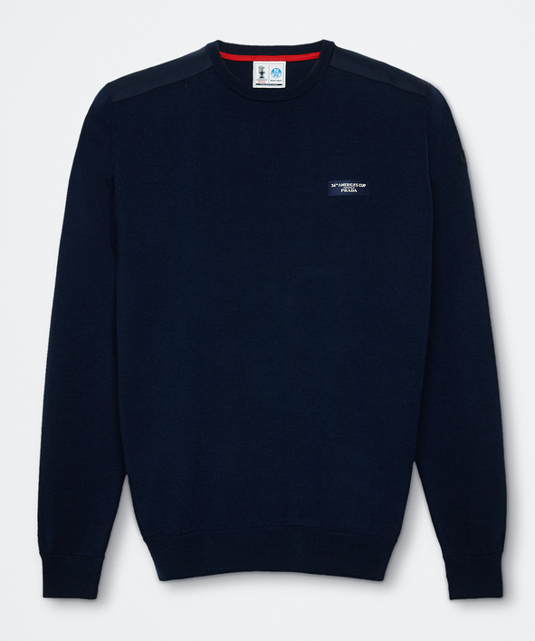 "North Sails America's Cup Presented by PRADA ""Howick"" Crew Neck Knit Navy"