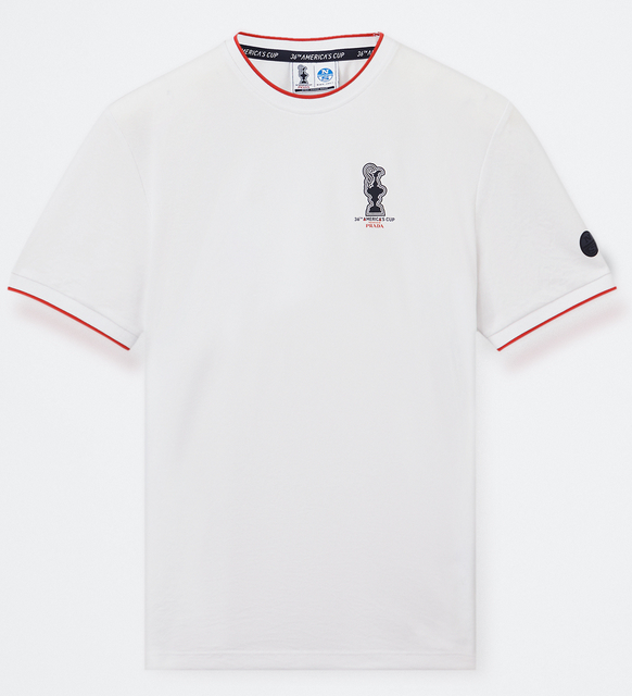 "North Sails America's Cup Presented by PRADA ""WINTON"" Crew Neck T-Shirt White"