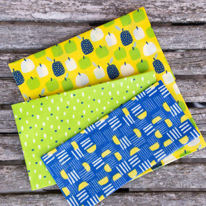 Lot de 3 bee wrap - emballage alimentaire réutilisable