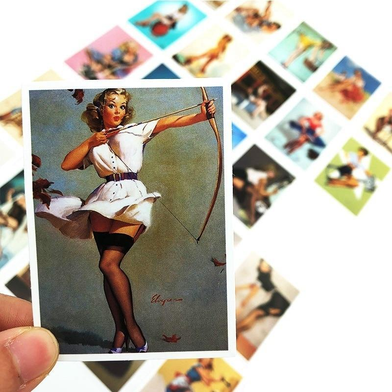 Stickers Vintage Bomber Pin Up Girl