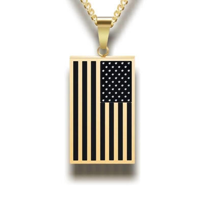 Collier Americain Plaque Americaine