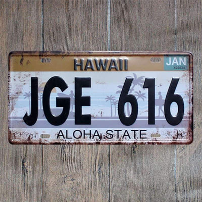 Plaque Americaine Hawaii