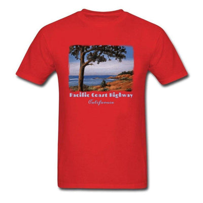 T-shirt Americain Pacific Coast Highway