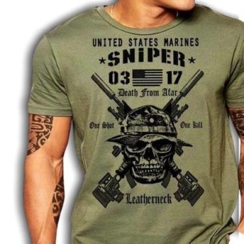 T-shirt Americain Us Marines