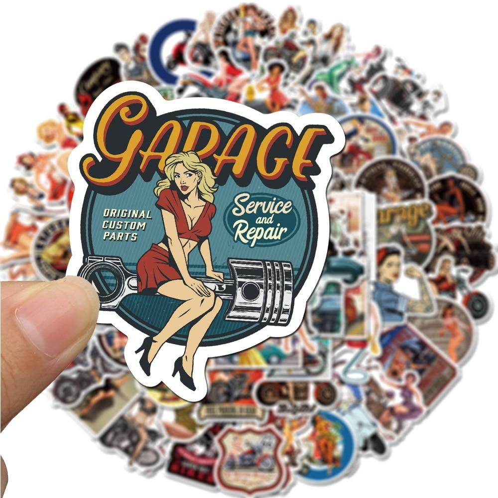 Stickers Vintage Pin Up Annees 50