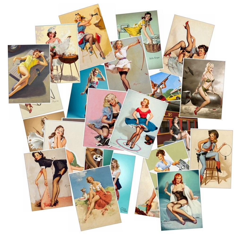 Stickers Vintage Pin Up