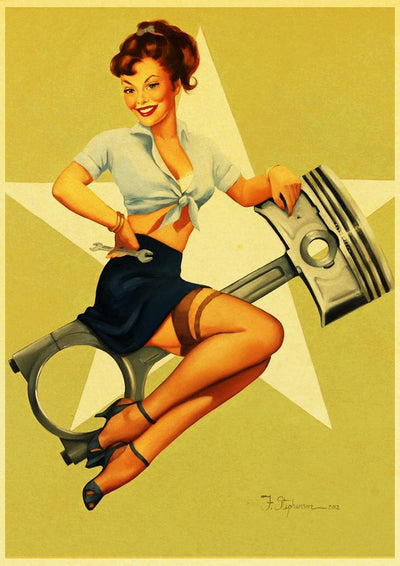 Tableau Vintage Pin Up