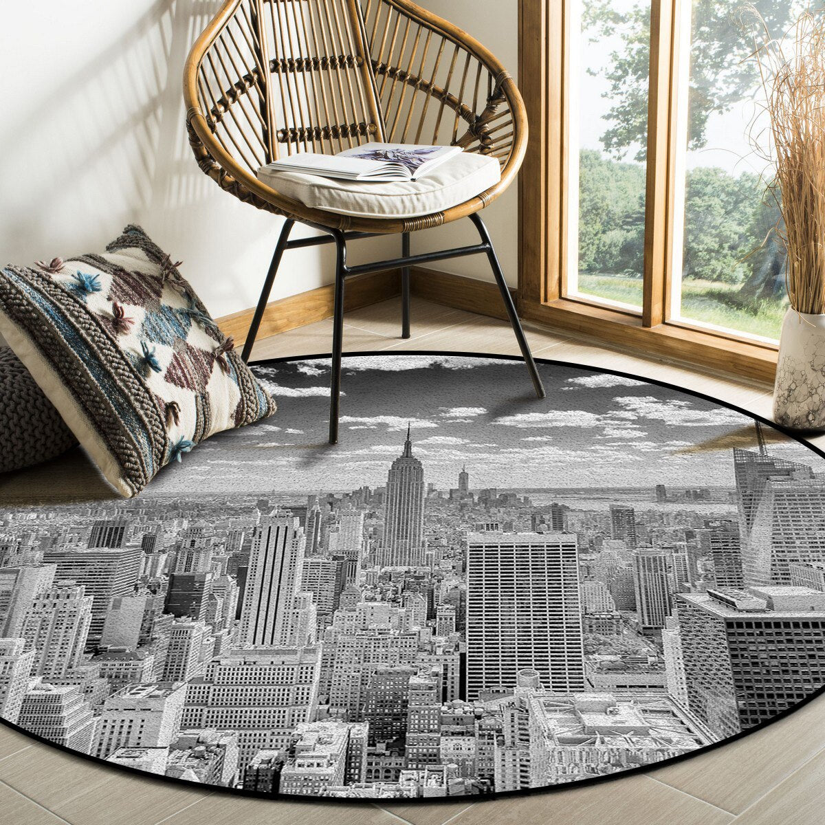 Tapis Vintage Rond New York