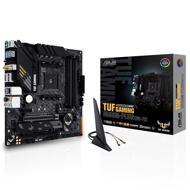 ASUS TUF GAMING B550M-PLUS WIFI AM4 Micro-ATX Motherboard