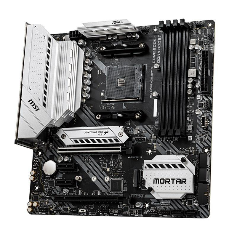 MSI MAG B550M MORTAR WIFI AM4 Micro-ATX Motherboard - Playtech