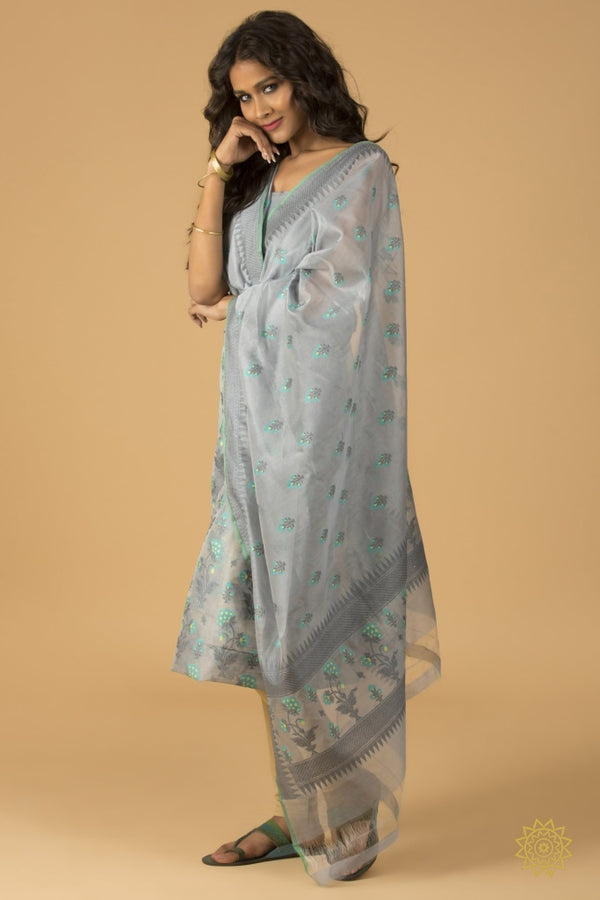 Banarasi Kurta Dupatta In Pure Cotton Resham Ensembles