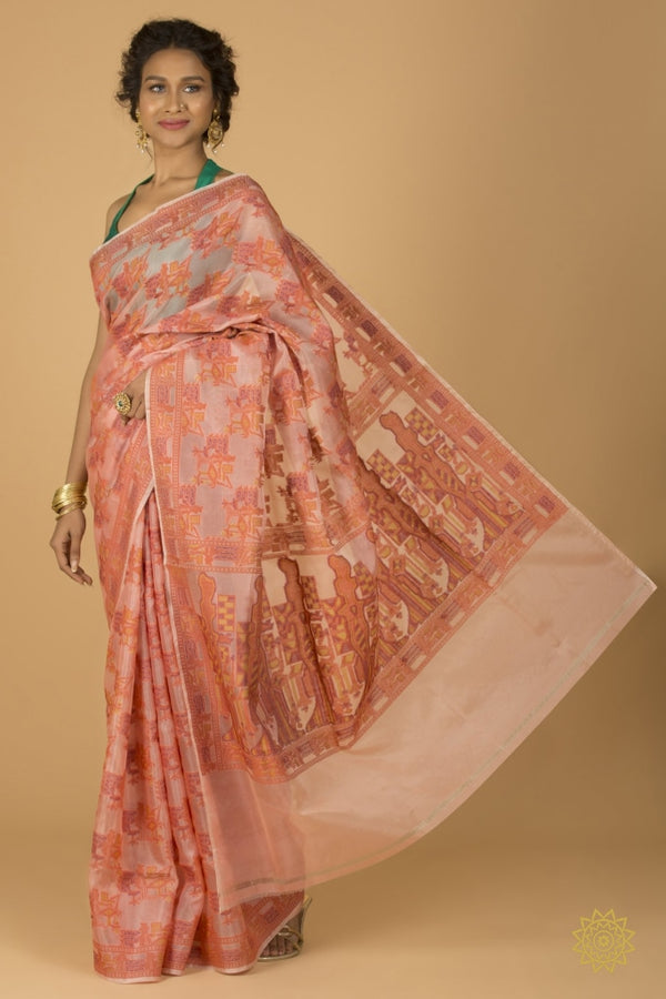 Banarasi Organza Silk Saree With Resham Work