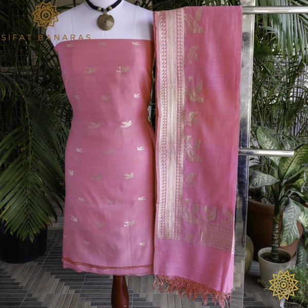 Handcrafted Kurta Dupatta Set In Pure Cotton Ensembles