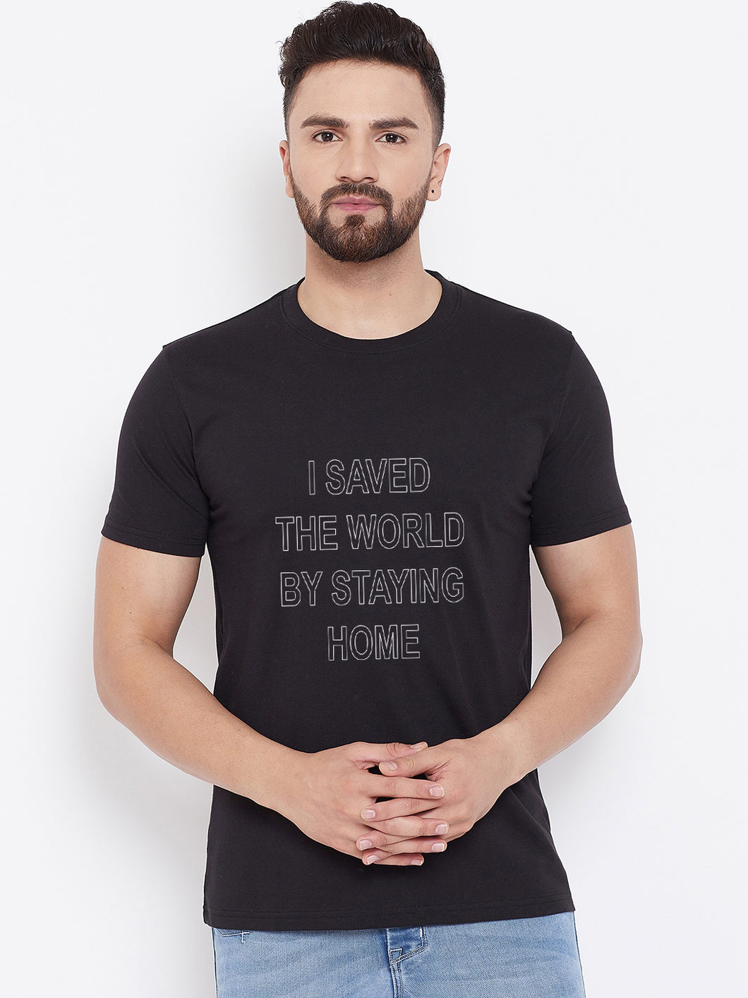 Mens Saved World Tshirt