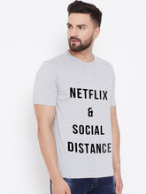 Load image into Gallery viewer, Mens Netflix & Social Distancing Tshirt